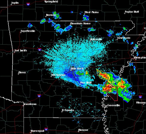 Radar Image for Severe Thunderstorms near Alligator, MS at 7/20/2018 10:53 PM CDT
