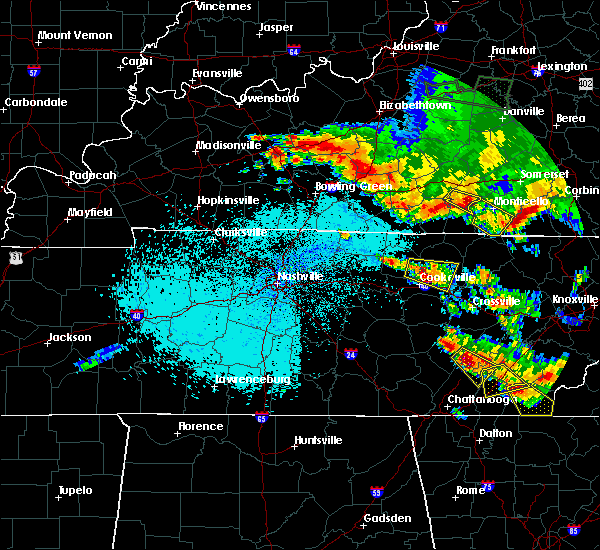 Radar Image for Severe Thunderstorms near Monterey, TN at 7/21/2018 12:08 AM CDT