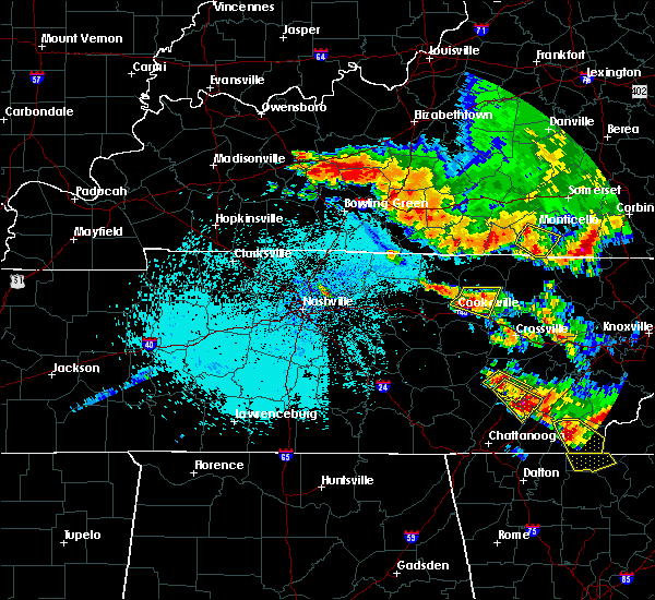 Radar Image for Severe Thunderstorms near Monterey, TN at 7/21/2018 12:24 AM CDT