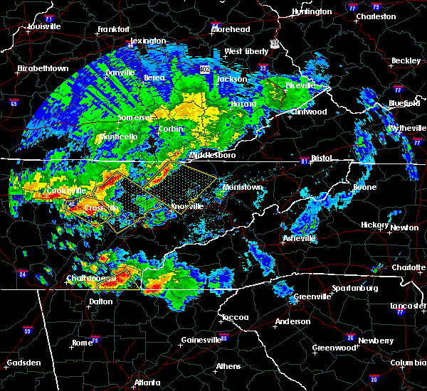 Radar Image for Severe Thunderstorms near Knoxville, TN at 7/21/2018 2:19 AM EDT