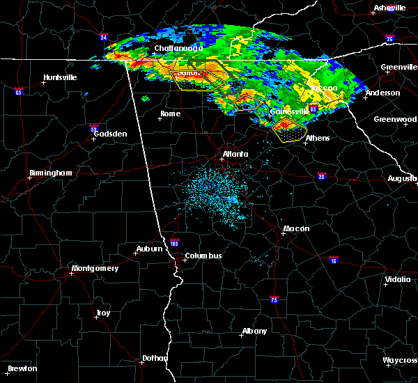 Radar Image for Severe Thunderstorms near Dawsonville, GA at 7/21/2018 4:56 AM EDT