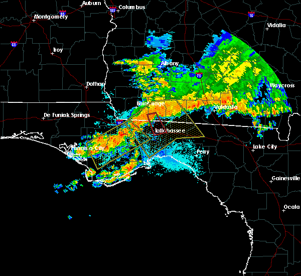 Radar Image for Severe Thunderstorms near Tallahassee, FL at 7/21/2018 1:07 PM EDT