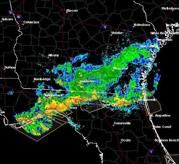 Radar Image for Severe Thunderstorms near Live Oak, FL at 7/21/2018 2:17 PM EDT