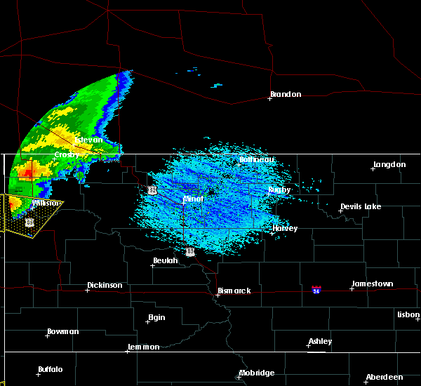 Radar Image for Severe Thunderstorms near Alexander, ND at 7/21/2018 5:36 PM CDT