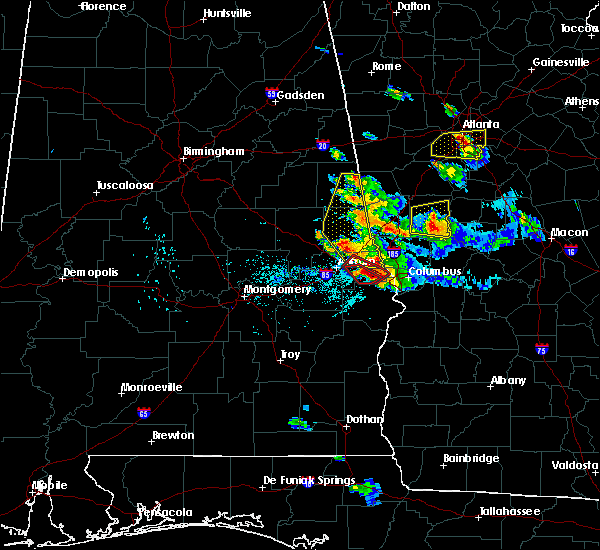 Radar Image for Severe Thunderstorms near Smiths Station, AL at 7/21/2018 6:08 PM CDT