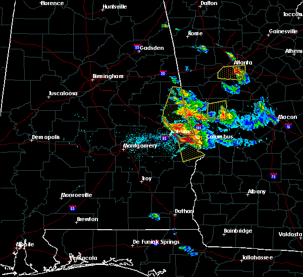 Radar Image for Severe Thunderstorms near Ladonia, AL at 7/21/2018 6:16 PM CDT