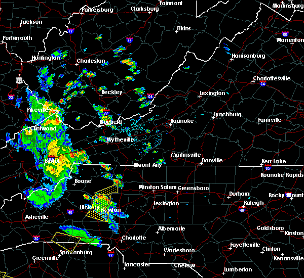 Radar Image for Severe Thunderstorms near North Wilkesboro, NC at 7/21/2018 7:16 PM EDT