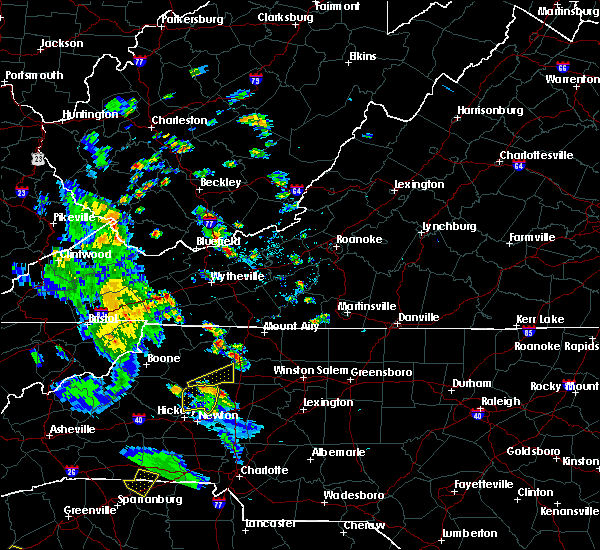 Radar Image for Severe Thunderstorms near Taylorsville, NC at 7/21/2018 7:23 PM EDT
