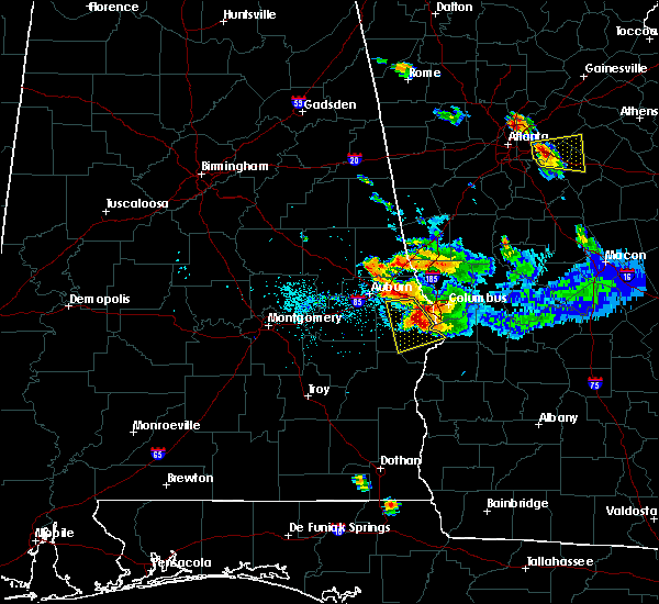 Radar Image for Severe Thunderstorms near Ladonia, AL at 7/21/2018 6:35 PM CDT