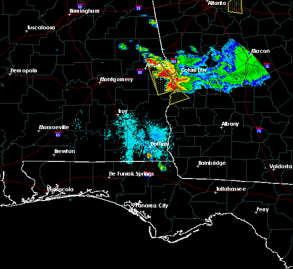 Radar Image for Severe Thunderstorms near Eufaula, AL at 7/21/2018 7:50 PM EDT