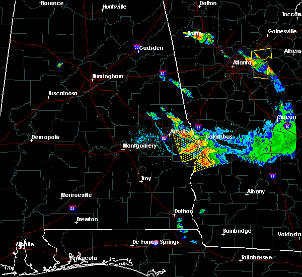 Radar Image for Severe Thunderstorms near Ladonia, AL at 7/21/2018 7:06 PM CDT