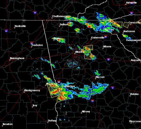 Radar Image for Severe Thunderstorms near Winder, GA at 7/21/2018 8:09 PM EDT
