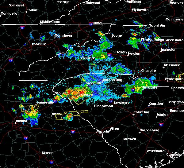 Radar Image for Severe Thunderstorms near Arnoldsville, GA at 7/21/2018 9:39 PM EDT