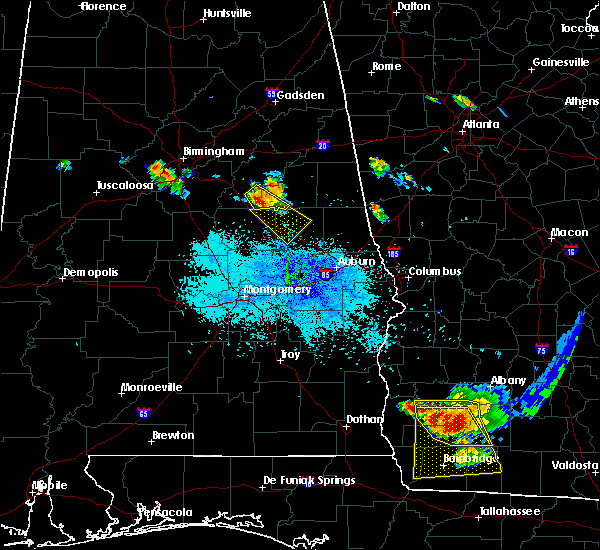 Radar Image for Severe Thunderstorms near Our Town, AL at 7/21/2018 9:22 PM CDT