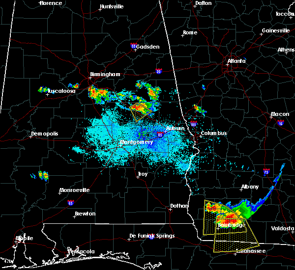 Radar Image for Severe Thunderstorms near Our Town, AL at 7/21/2018 9:53 PM CDT