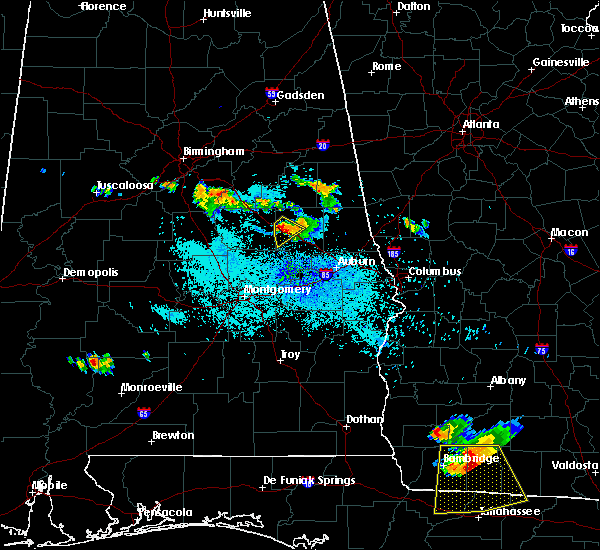 Radar Image for Severe Thunderstorms near Our Town, AL at 7/21/2018 10:05 PM CDT