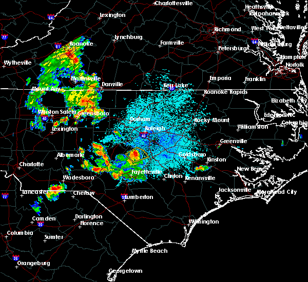 Radar Image for Severe Thunderstorms near Coats, NC at 7/21/2018 11:05 PM EDT