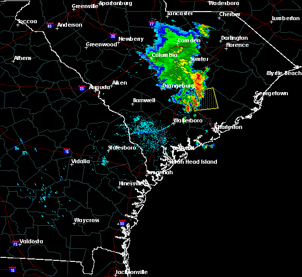Radar Image for Severe Thunderstorms near Moncks Corner, SC at 7/22/2018 2:50 AM EDT
