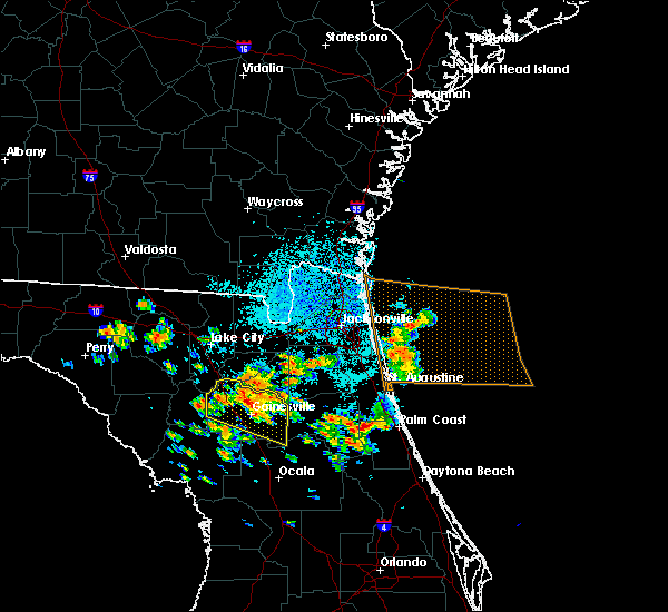 Radar Image for Severe Thunderstorms near Gainesville, FL at 7/22/2018 11:27 AM EDT