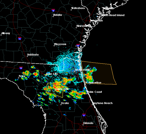 Radar Image for Severe Thunderstorms near Gainesville, FL at 7/22/2018 11:33 AM EDT