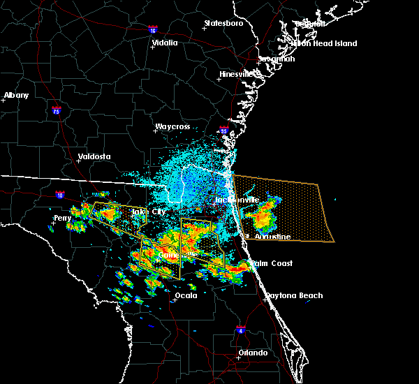 Radar Image for Severe Thunderstorms near Gainesville, FL at 7/22/2018 11:45 AM EDT