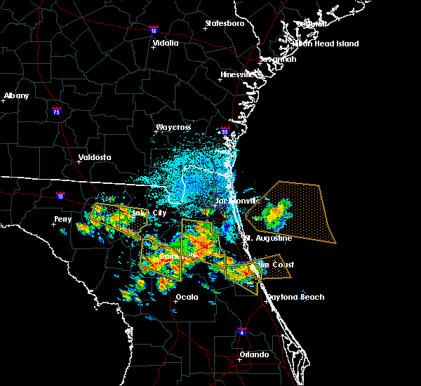 Radar Image for Severe Thunderstorms near Fleming Island, FL at 7/22/2018 12:00 PM EDT