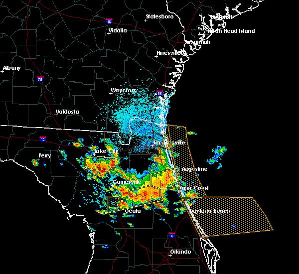 Radar Image for Severe Thunderstorms near Jacksonville, FL at 7/22/2018 12:46 PM EDT