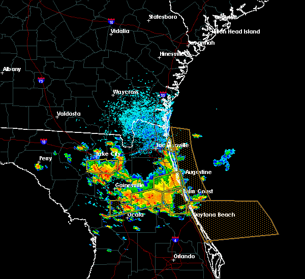 Radar Image for Severe Thunderstorms near Bunnell, FL at 7/22/2018 12:51 PM EDT