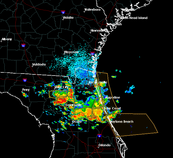 Radar Image for Severe Thunderstorms near Gainesville, FL at 7/22/2018 1:01 PM EDT