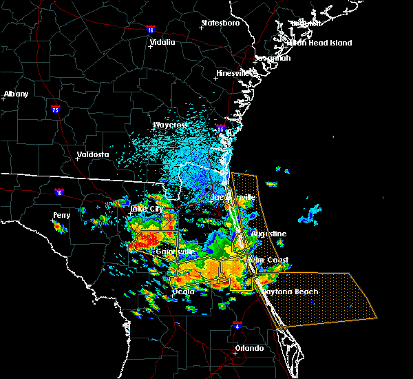 Radar Image for Severe Thunderstorms near St. Augustine South, FL at 7/22/2018 1:04 PM EDT