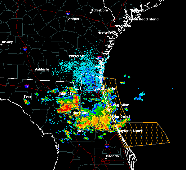 Radar Image for Severe Thunderstorms near Ormond Beach, FL at 7/22/2018 1:07 PM EDT
