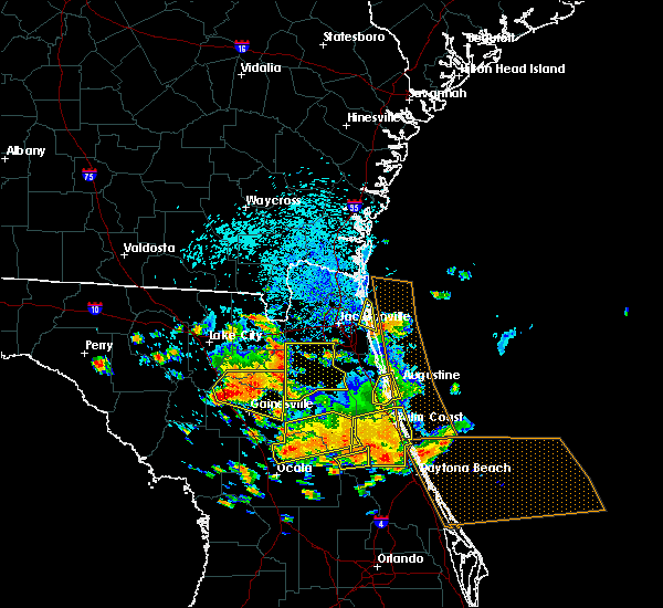 Radar Image for Severe Thunderstorms near Fleming Island, FL at 7/22/2018 1:10 PM EDT