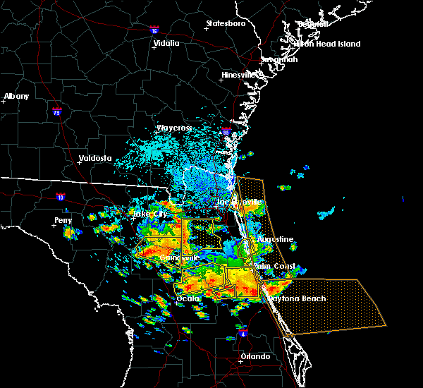 Radar Image for Severe Thunderstorms near St. Augustine South, FL at 7/22/2018 1:13 PM EDT