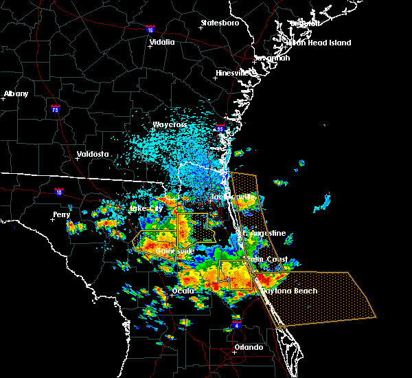 Radar Image for Severe Thunderstorms near South Daytona, FL at 7/22/2018 1:22 PM EDT