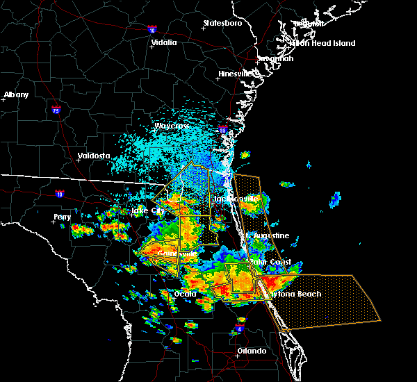 Radar Image for Severe Thunderstorms near Gainesville, FL at 7/22/2018 1:29 PM EDT