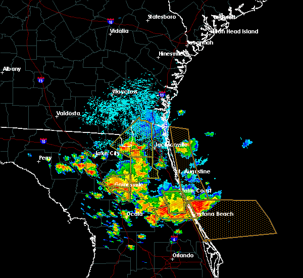 Radar Image for Severe Thunderstorms near Welaka, FL at 7/22/2018 1:34 PM EDT