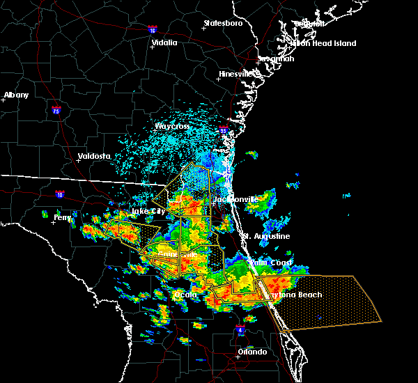 Radar Image for Severe Thunderstorms near Fleming Island, FL at 7/22/2018 1:41 PM EDT