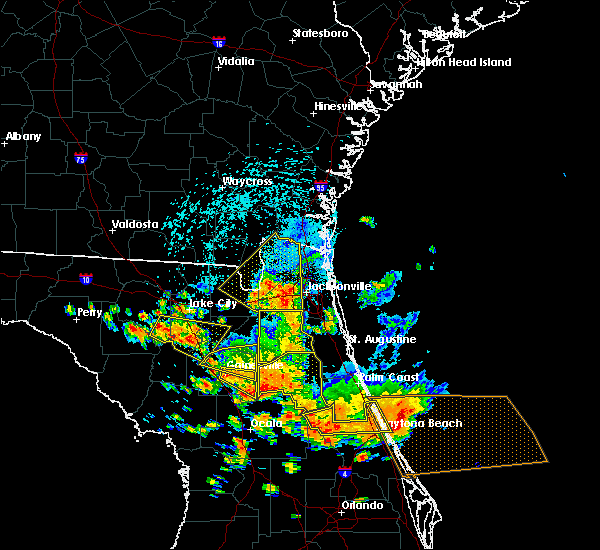 Radar Image for Severe Thunderstorms near Bunnell, FL at 7/22/2018 1:44 PM EDT