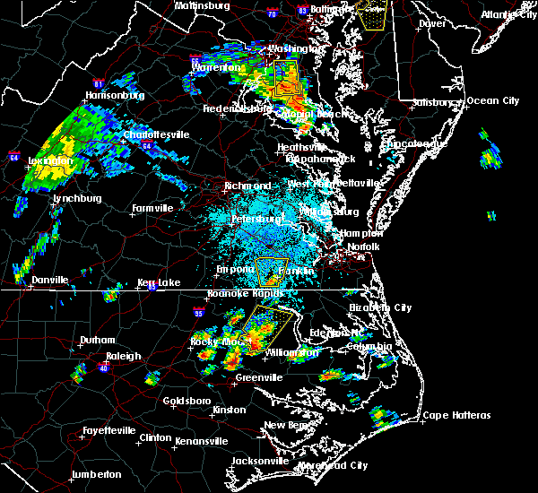 Radar Image for Severe Thunderstorms near Suffolk, VA at 7/22/2018 1:53 PM EDT