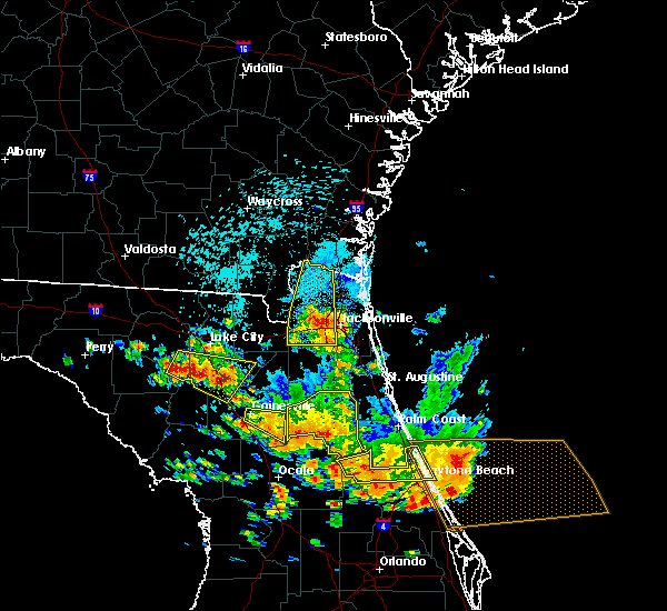 Radar Image for Severe Thunderstorms near Seville, FL at 7/22/2018 1:59 PM EDT