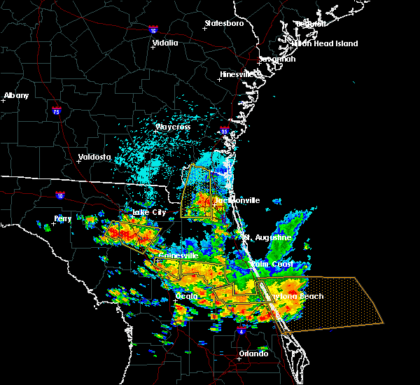 Radar Image for Severe Thunderstorms near Welaka, FL at 7/22/2018 2:02 PM EDT