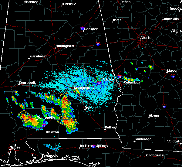 Radar Image for Severe Thunderstorms near Pike Road, AL at 7/22/2018 1:08 PM CDT