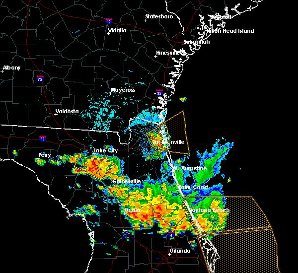 Radar Image for Severe Thunderstorms near Jacksonville, FL at 7/22/2018 2:23 PM EDT