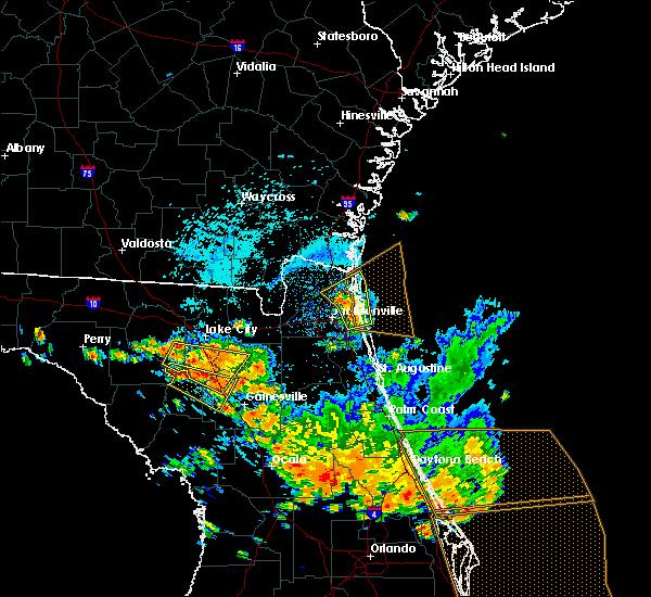 Radar Image for Severe Thunderstorms near Yulee, FL at 7/22/2018 2:30 PM EDT