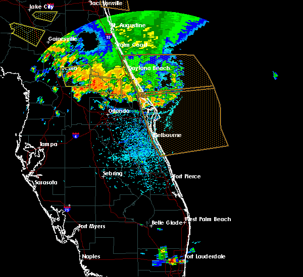 Radar Image for Severe Thunderstorms near North DeLand, FL at 7/22/2018 2:51 PM EDT