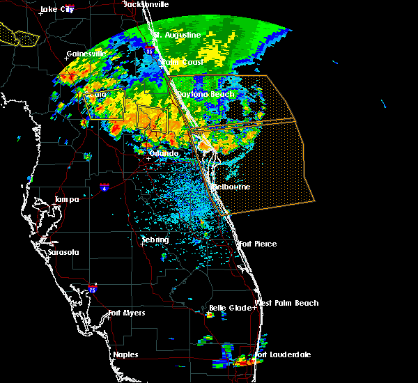 Radar Image for Severe Thunderstorms near North DeLand, FL at 7/22/2018 3:06 PM EDT