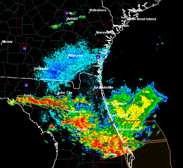 Radar Image for Severe Thunderstorms near Alachua, FL at 7/22/2018 3:25 PM EDT