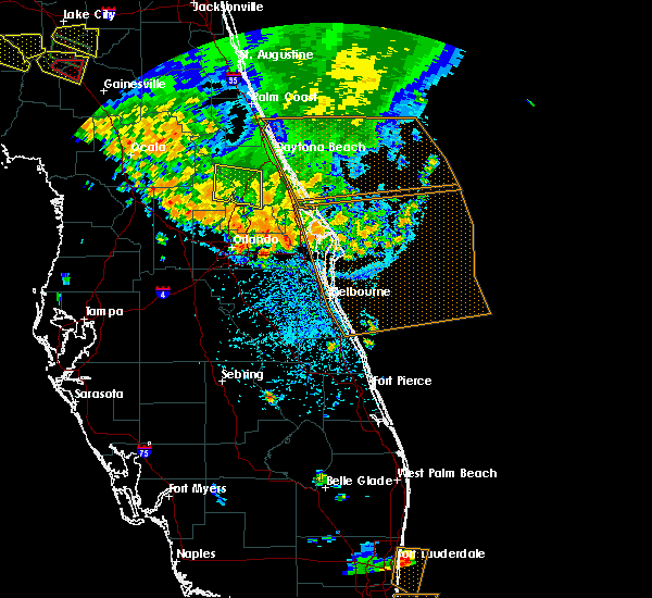 Radar Image for Severe Thunderstorms near North DeLand, FL at 7/22/2018 3:28 PM EDT