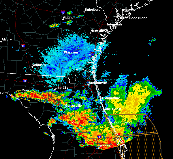 Radar Image for Severe Thunderstorms near Alachua, FL at 7/22/2018 3:37 PM EDT