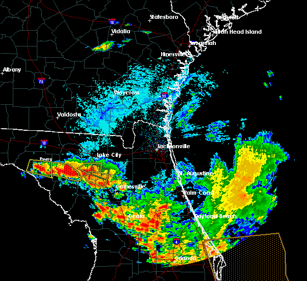 Radar Image for Severe Thunderstorms near Alachua, FL at 7/22/2018 3:56 PM EDT